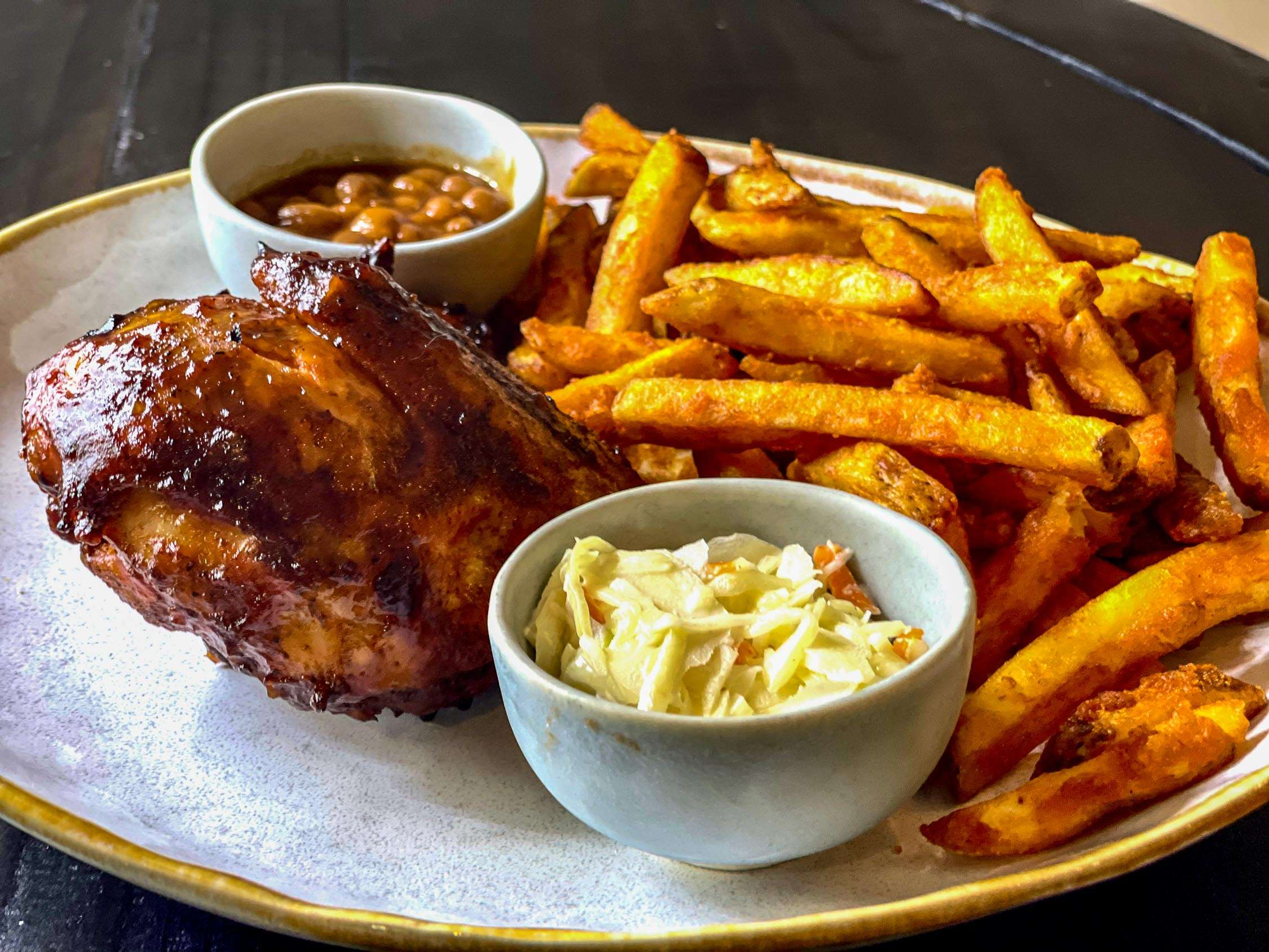 Smoked Chicken and Rodeo Fries - Bbq bandits