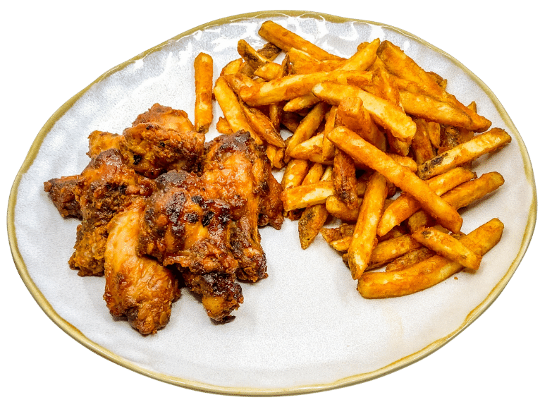 Smoked Wings and Rodeo Fries - Bbq Bandits